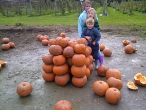 pumpkin tower